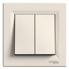 2-клавішний вимикач Schneider Electric Asfora Кремовий (EPH0300123)