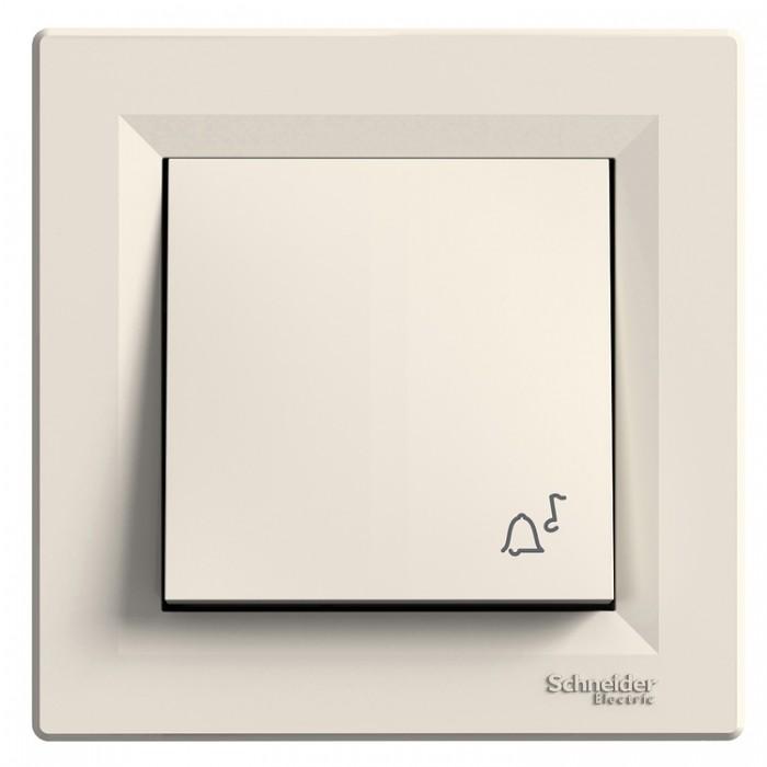 "Кнопка ""Дзвінок"" Schneider Electric Asfora Кремовий (EPH0800123)"