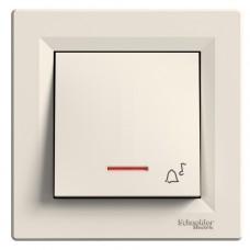 """Кнопка з підсвічуванням """"Дзвінок"""" Schneider Electric Asfora Кремовий (EPH1700123)"""