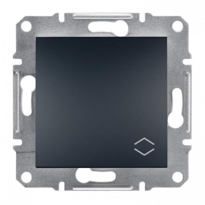 1-клавішний прохідний вимикач Schneider Electric Asfora 10A Антрацит (EPH0400171)