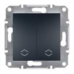 2-клавішний прохідний вимикач Schneider Electric Asfora Антрацит (EPH0600171)