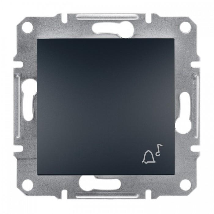 """Кнопка """"Дзвінок"""" Schneider Electric Asfora Антрацит (EPH0800171)"""