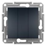 3-клавішний вимикач Schneider Asfora Антрацит (EPH2100171)