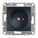 Розетка Schneider Electric Asfora без заземлення  Антрацит (EPH3000171)