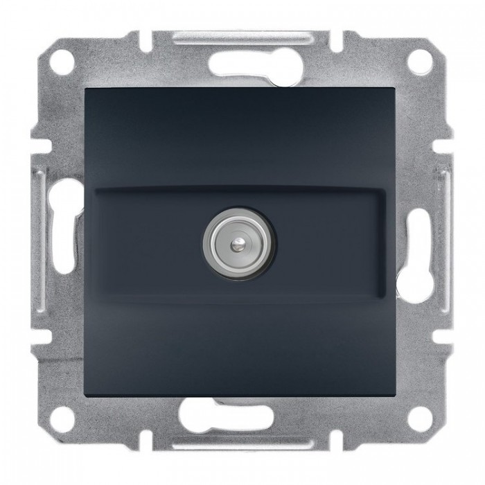 ТВ-розетка Schneider Electric Asfora кінцева  Антрацит (EPH3200171)