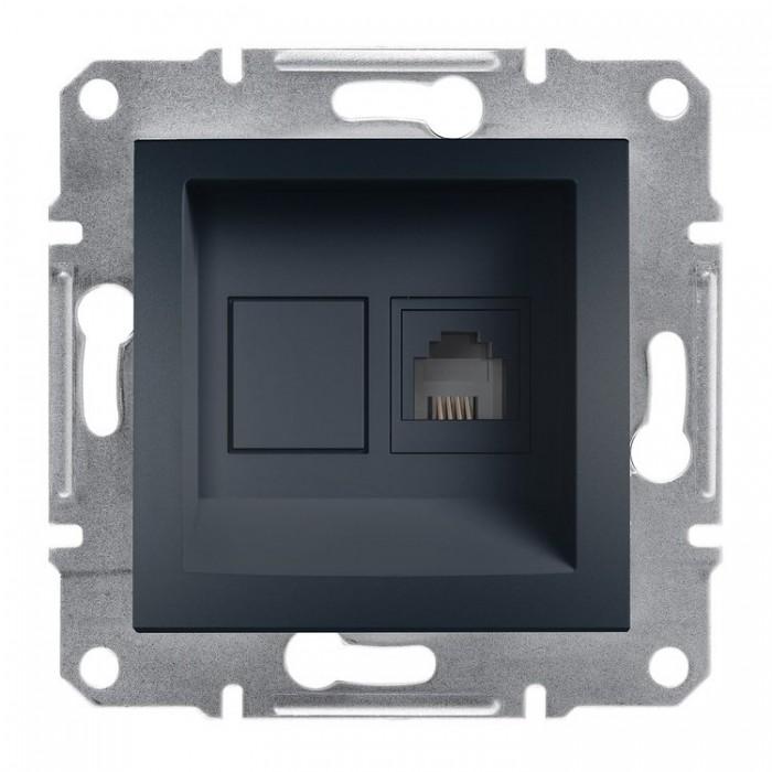 Комп'ютерна розетка Schneider Electric Asfora RJ45 5 категорія UTP Антрацит (EPH 4300171)