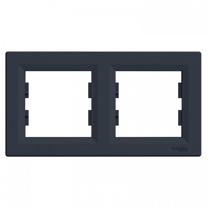 Рамка подвійна горизонтальна Schneider Electric Asfora Антрацит (EPH5800271)