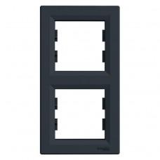 Рамка подвійна Schneider Electric Asfora вертикальна Антрацит (EPH5810271)
