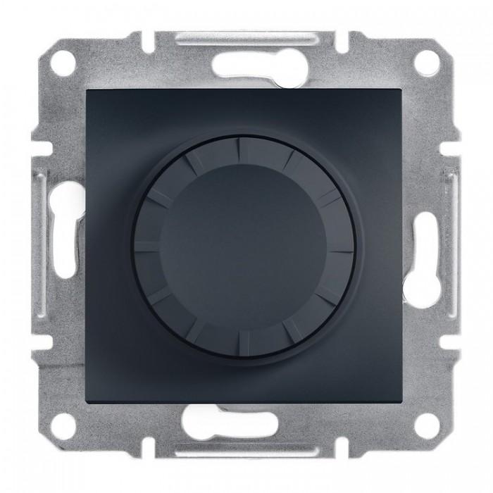 Світлорегулятор поворотний Schneider Electric Asfora 600 Вт Антрацит (EPH 6400171)