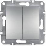 2-клавішний вимикач Schneider Electric Asfora Алюміній (EPH0300161)