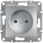 Розетка Schneider Electric Asfora без заземлення Алюміній (EPH3000161)