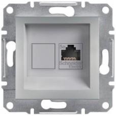 Комп'ютерна розетка кат. 5e Schneider Electric Asfora Алюміній (EPH4300161)