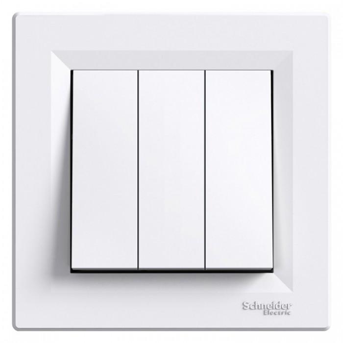 3-клавішний вимикач Schneider Asfora Білий (EPH2100121)