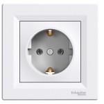 Розетка Schneider Electric Asfora із заземленням Біла (EPH2900121)