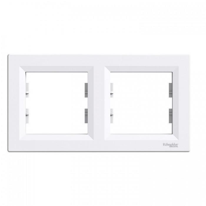 Рамка подвійна  Schneider Electric Asfora горизонтальна Біла (EPH5800221)