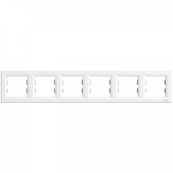 Рамка шестирна Schneider Electric Asfora горизонтальна Біла (EPH5800621)