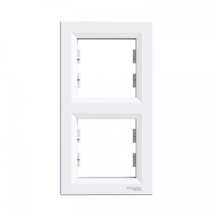 Рамка подвійна Schneider Electric Asfora вертикальна Біла (EPH5810221)