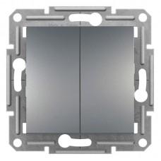 2-клавішний прохідний вимикач Schneider Electric Asfora Сталь (EPH0600162)