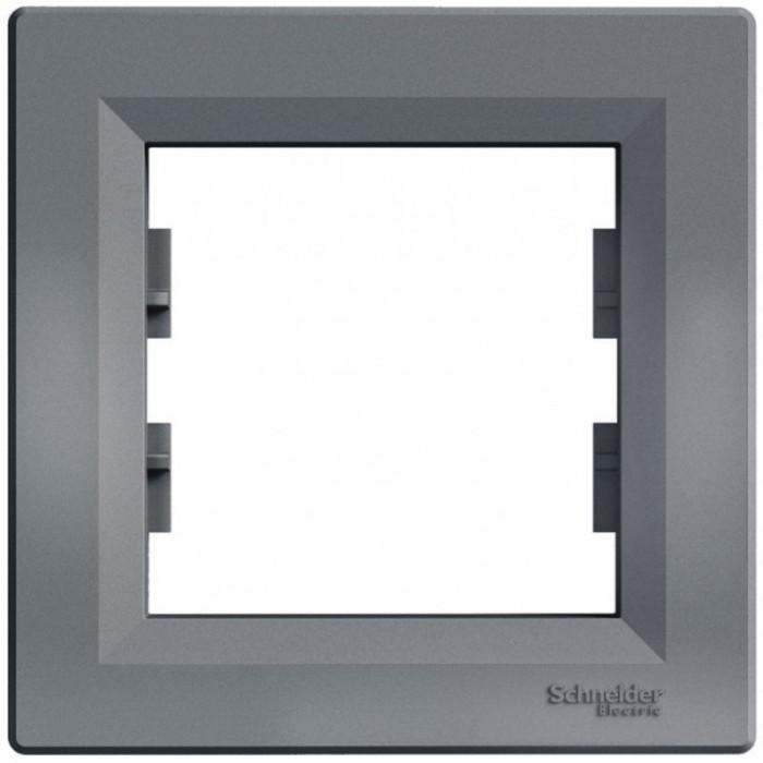 Рамка одинарна Schneider Electric Asfora горизонтальна Сталь (EPH5800162)