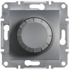 Світлорегулятор (диммер) поворотний Schneider Electric Asfora 40-600 Вт Сталь (EPH6400162)