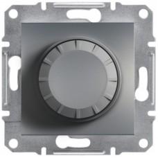 Світлорегулятор (диммер) поворотний Schneider Electric Asfora 25-325 Вт Сталь (EPH6600162)