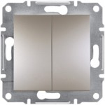 2-клавішний вимикач Schneider Electric Asfora Бронза (EPH0300169)