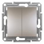 2-клавішний прохідний вимикач Schneider Electric Asfora Бронза (EPH0600169)