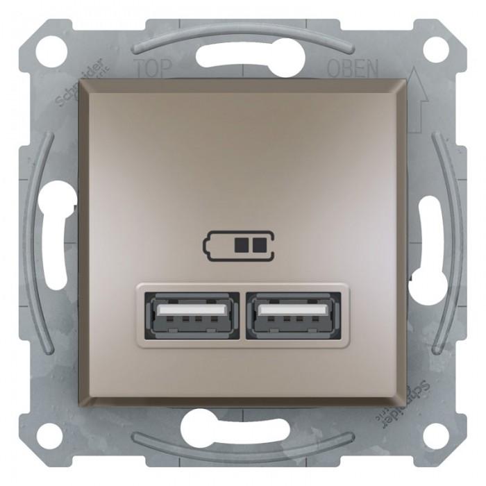 USB-розетка подвійна Schneider Electric Asfora Бронза (EPH2700269)