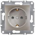 Розетка Schneider Electric Asfora із заземленням Бронза (EPH2900169)