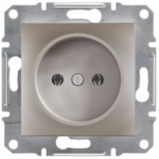 Розетка Schneider Electric Asfora без заземлення Бронза (EPH3000169)