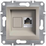 Комп'ютерна розетка кат. 5e Schneider Electric Asfora Бронза (EPH4300169)