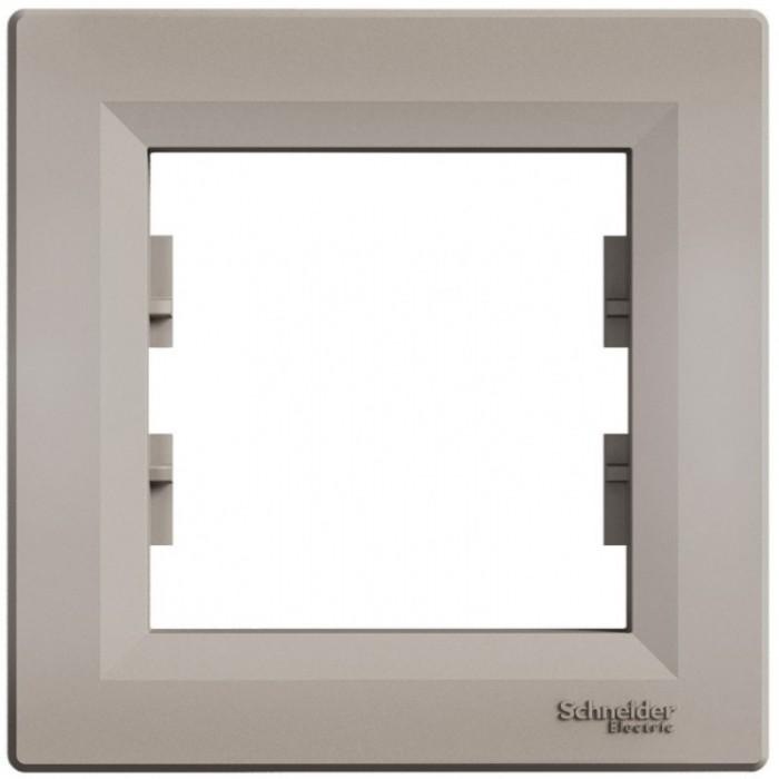 Рамка одинарна Schneider Electric Asfora горизонтальна Бронза (EPH5800169)