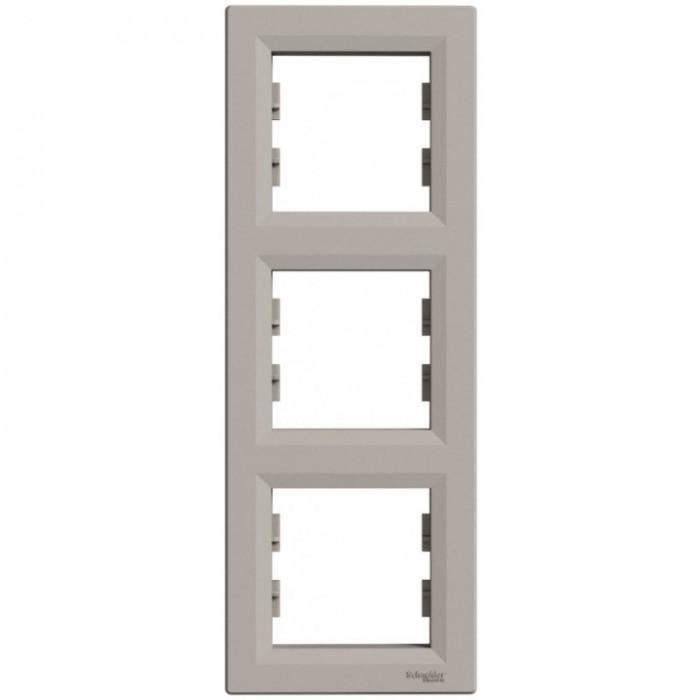 Рамка потрійна Schneider Electric Asfora вертикальна Бронза (EPH5810369)
