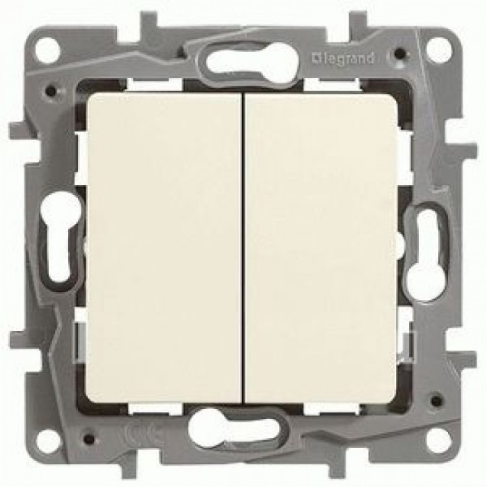 2-клавішний вимикач Legrand Etika Слонова кістка (672302)