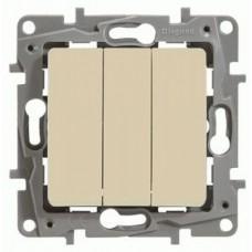 3-клавішний вимикач Legrand Etika Слонова кістка (672313)