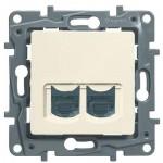 Комп'ютерна розетка подвійна Legrand Etika Слонова кістка (672355)