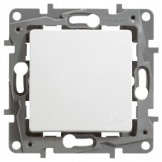 1-клавішний прохідний вимикач Legrand Etika IP44 Білий (672200)