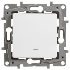 1-клавішний вимикач Legrand Etika із підсвічуванням Білий (672203)