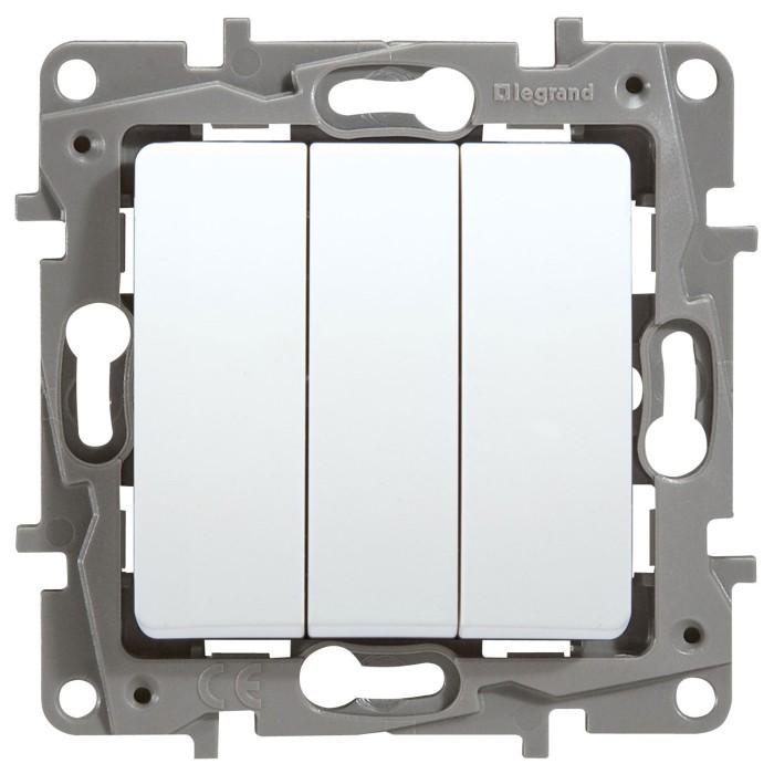 3-клавішний вимикач Legrand Etika Білий (672213)