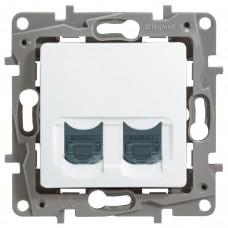 Комп'ютерна розетка подвійна Legrand Etika Біла (672254)