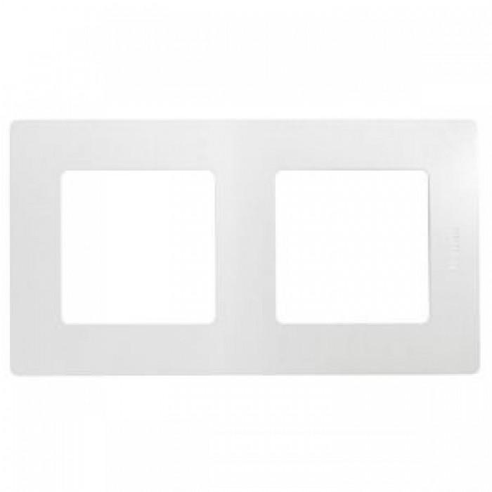 Рамка подвійна Legrand Etika горизонтальна Біла (672502)