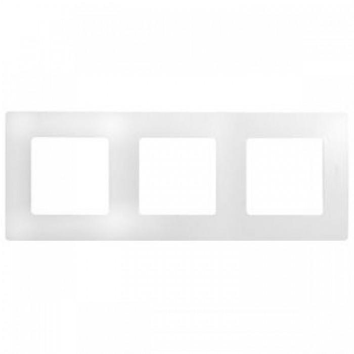 Рамка потрійна Legrand Etika горизонтальна Біла (672503)