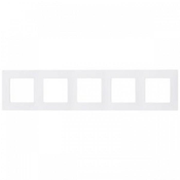 Рамка п`ятірна Legrand Etika горизонтальна Біла (672505)