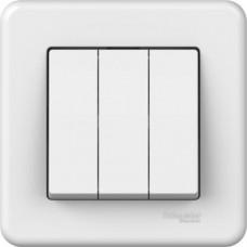 3-клавішний вимикач Schneider Electric Leona Білий (LNA2100321)