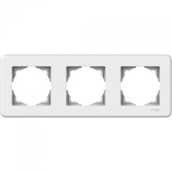 Рамка потрійна Schneider Electric Leona горизонтальна Біла (LNA5800321)