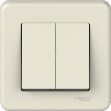 2-клавішний вимикач Schneider Electric Leona Слонова кістка (LNA0300323)
