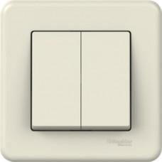 2-клавішний прохідний вимикач Schneider Electric Leona Слонова кістка (LNA0600323)