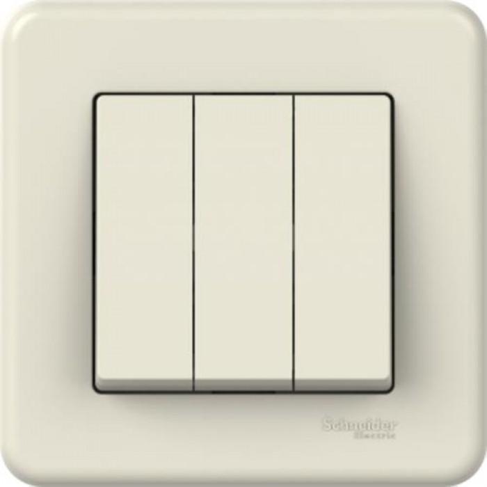 3-клавішний вимикач Schneider Electric Leona Слонова кістка (LNA2100323)