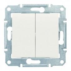 2-клавішний вимикач Schneider Electric Sedna IP44 Слонова кістка (SDN0300423)