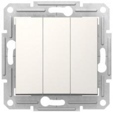 3-клавішний вимикач Schneider Electric Sedna Слонова кістка (SDN0300623)